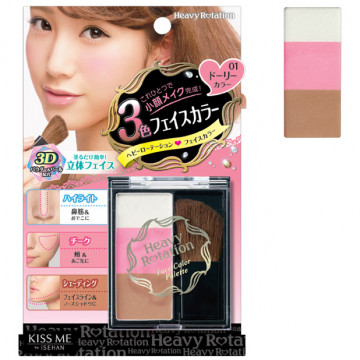 Купить - Isehan Havy Rotation Face Color Palette - Трехцветная паллета