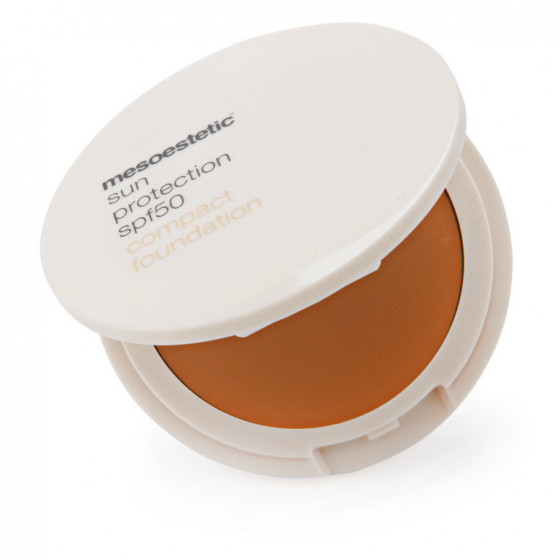 Mesoestetic Sun Protection SPF50 Compact Foundation Color - Легкая крем-пудра с SPF50