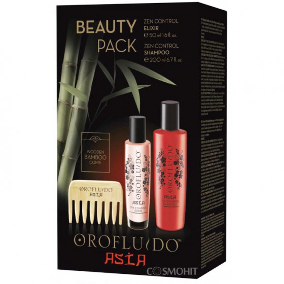 Orofluido Asia Beauty Pack - Подарочный набор Asia (Шампунь + Эликсир + Гребень)