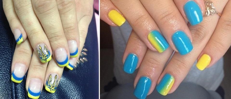 Голубой цвет ногтей сочетание